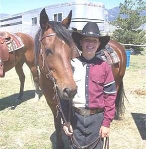 Devine JB Sundancer  (Sandrock Joel X Doe Run Marvelouslee)  Bay Filly  Foaled May 24, 2001  With partner Ben Sonnenberg of MT.