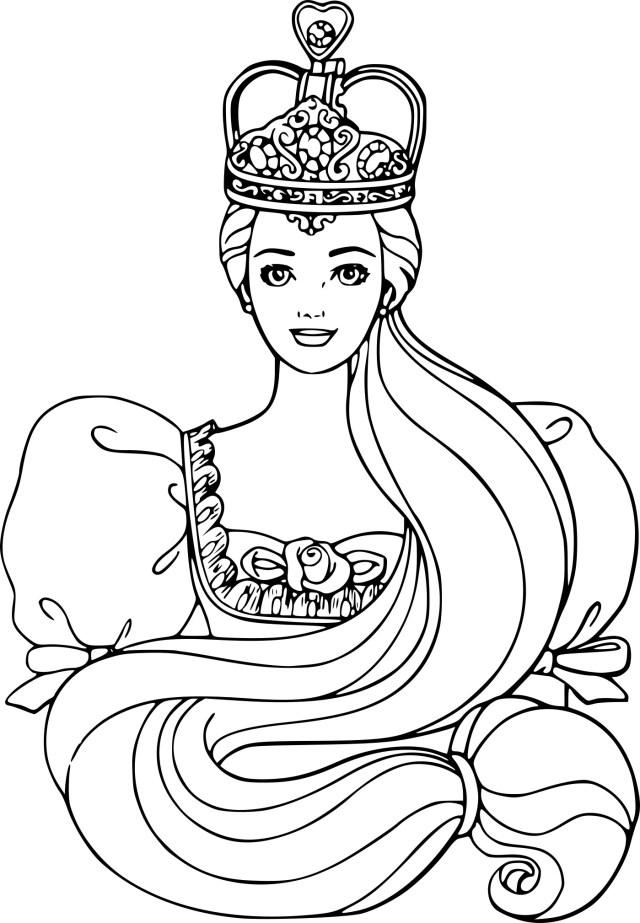 Coloriage Barbie princesse Disney à imprimer gratuit