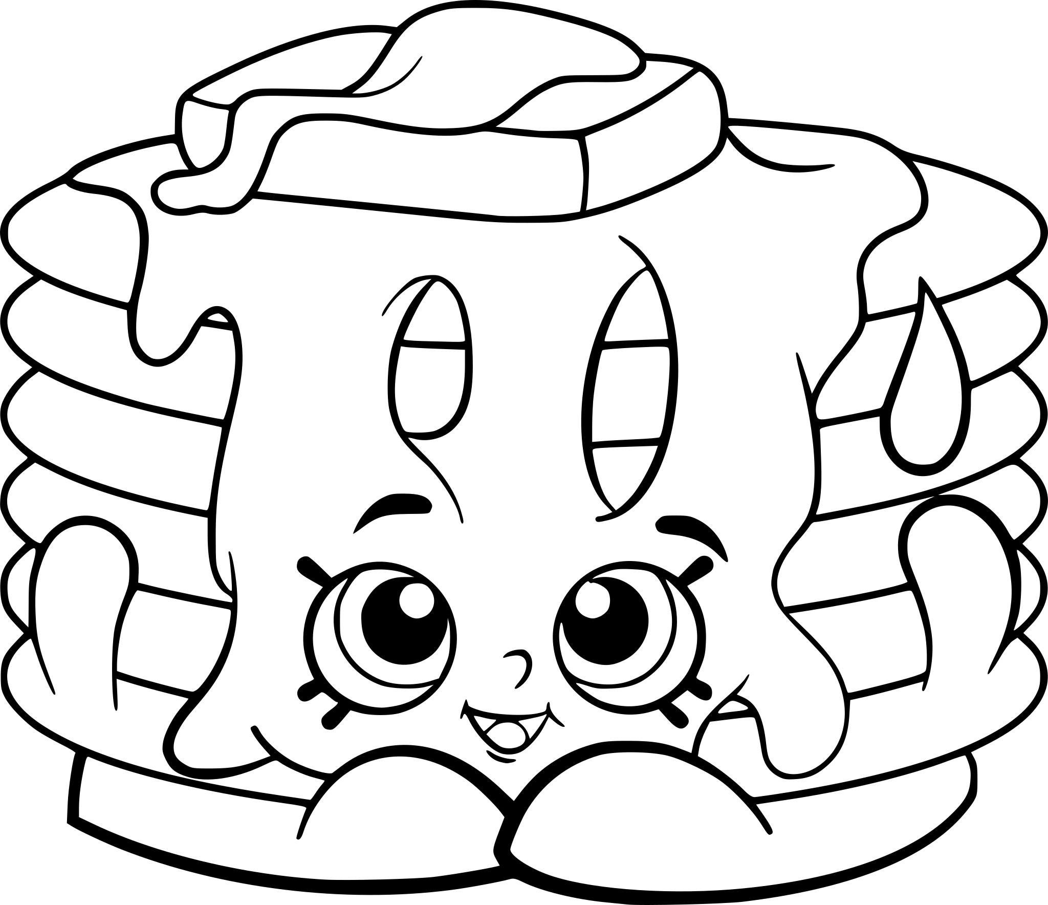 Coloriage Shopkins Pancake A Imprimer Gratuit