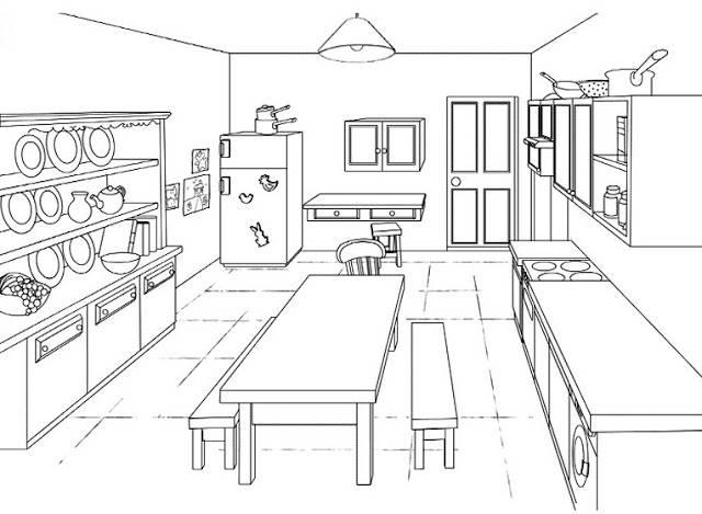 cuisine en ligne dessin gratuit a imprimer