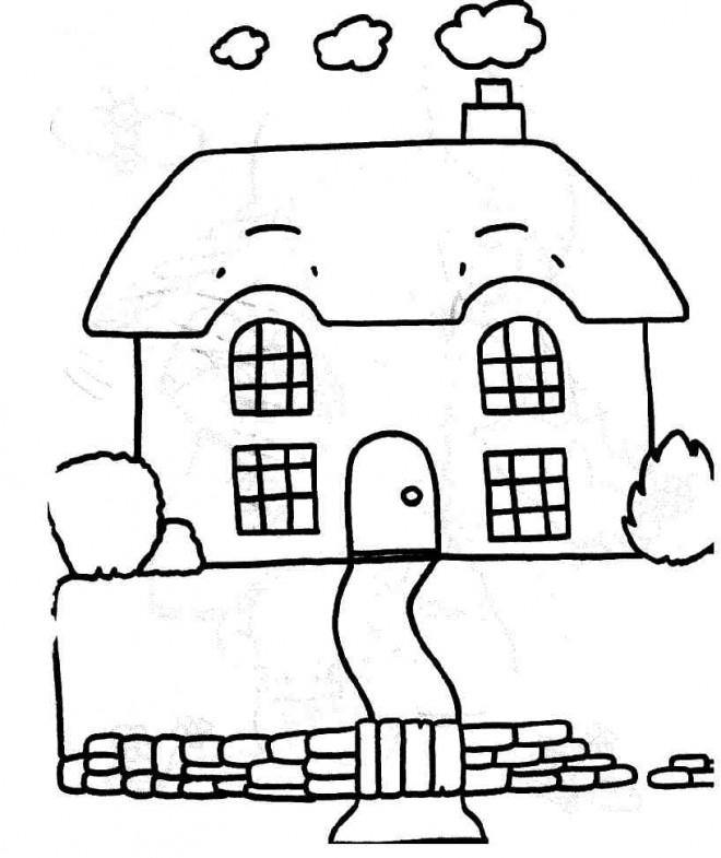 Coloriage Maison Simple Maternelle Dessin Gratuit A Imprimer