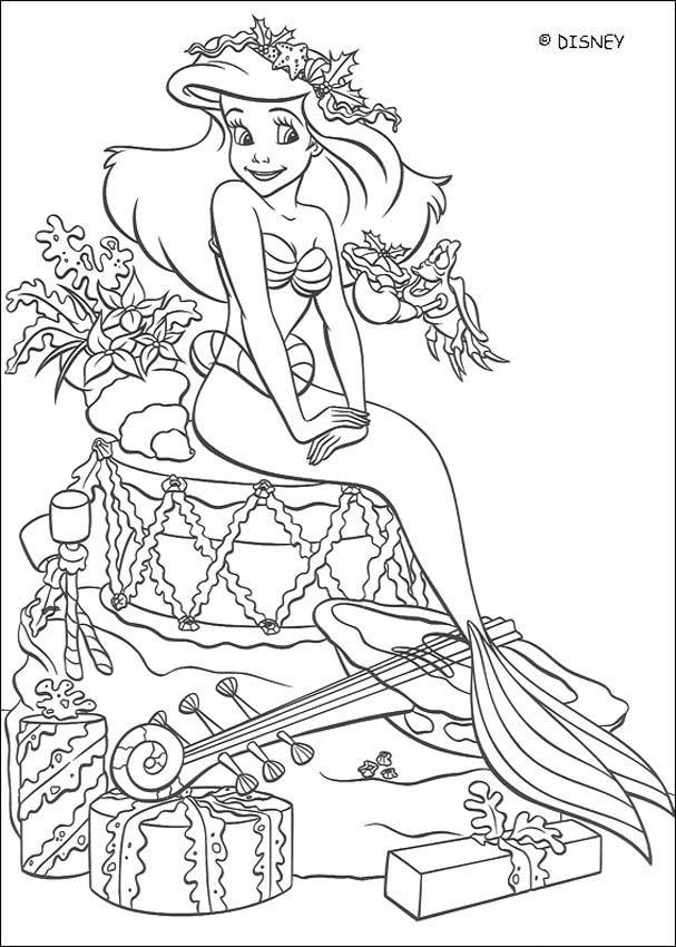coloriage disney ariel la princesse de