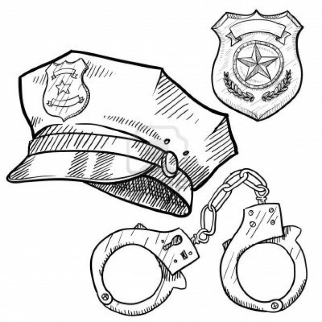Coloriage Equipement De Policier Dessin Gratuit Imprimer