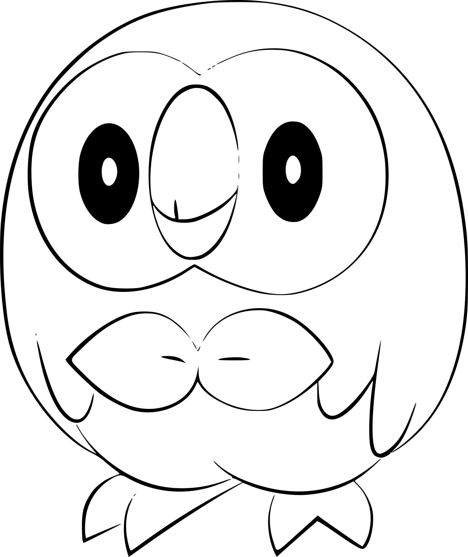 Coloriage Brindibou Pokemon A Imprimer