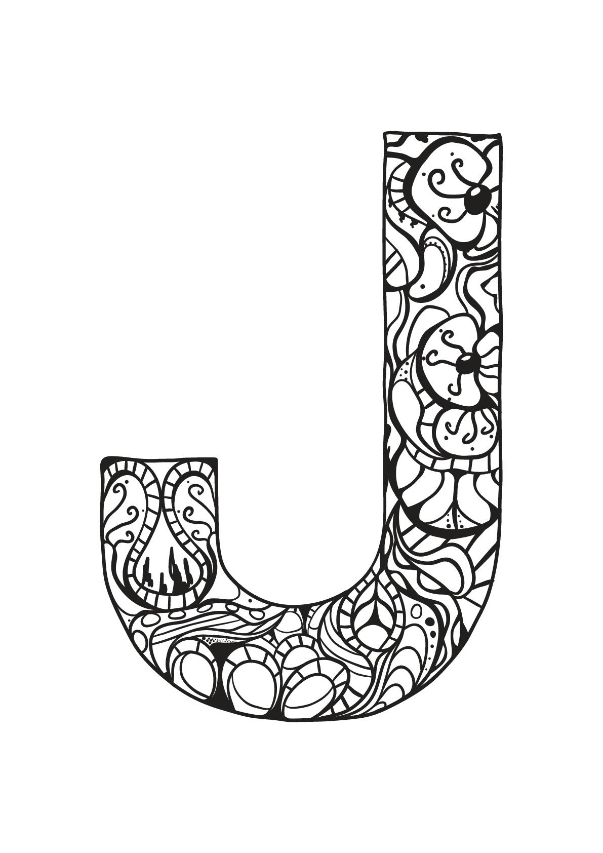 Alphabet Lettre J