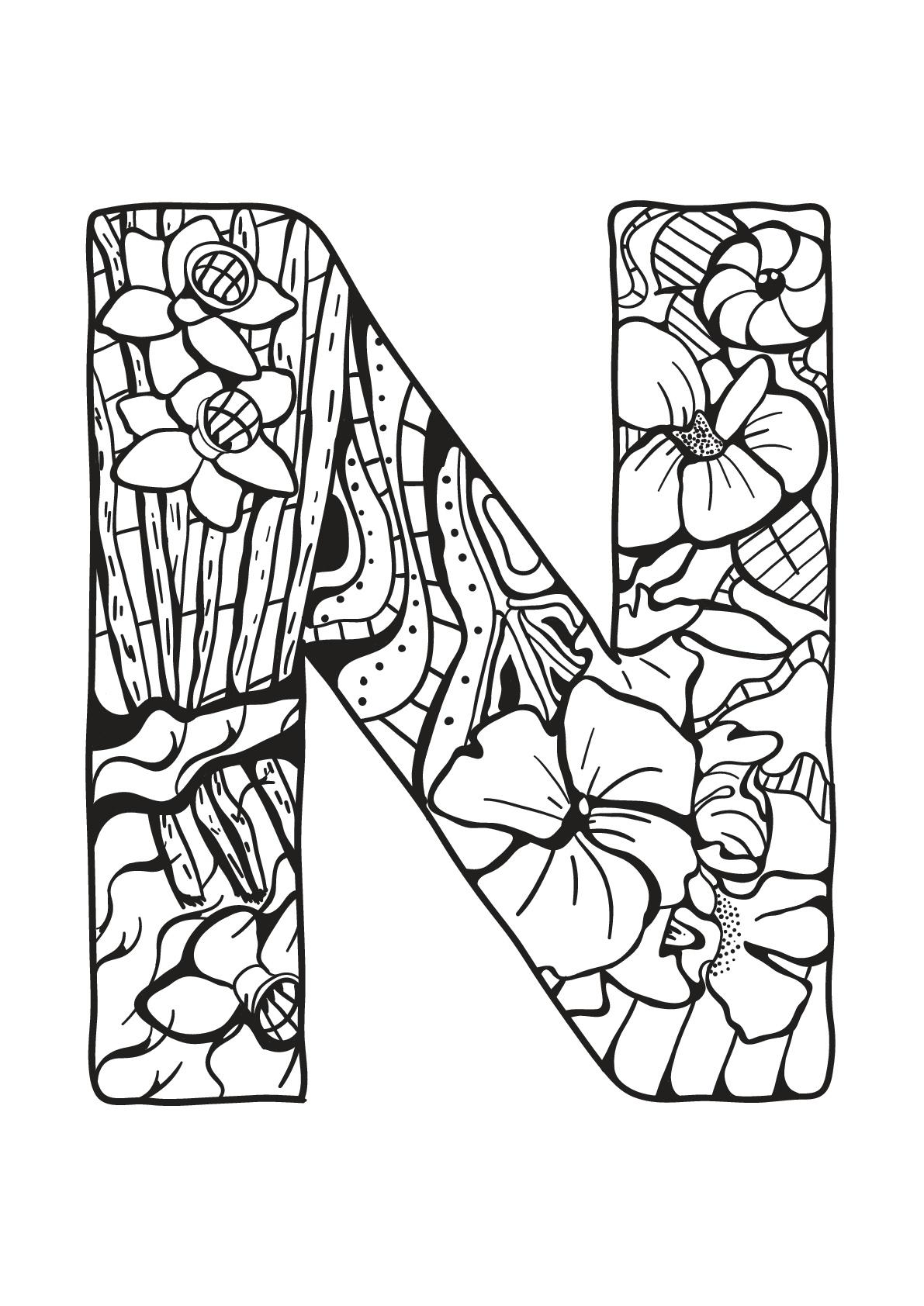 Alphabet Lettre N