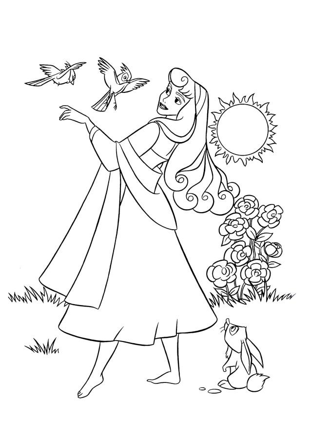 Coloriage de La Belle au bois dormant pour enfants - Coloriage La