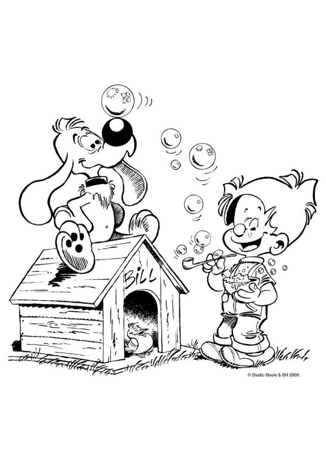 Coloriage de Boulle et Bill à télécharger - Coloriage Boule et