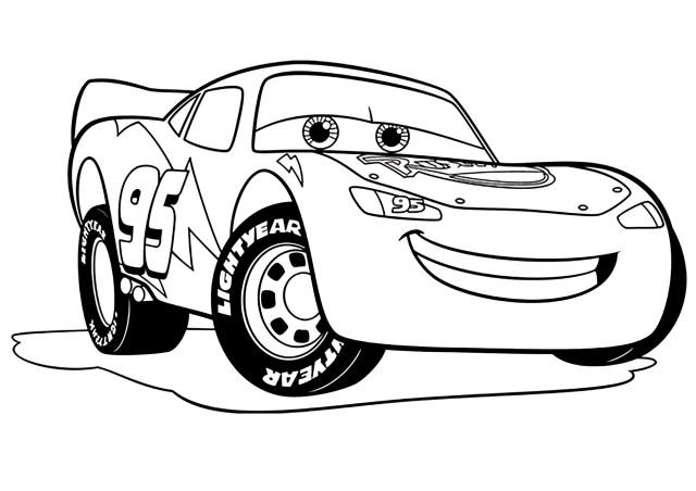Image de Cars 10 à télécharger et colorier : Flash Mc Queen