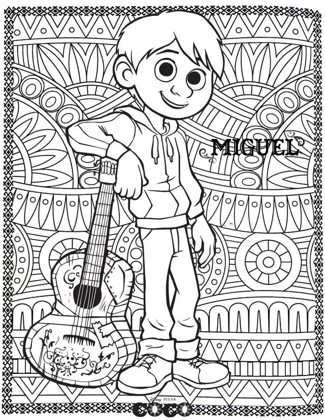Image de Coco à imprimer et colorier - Coloriage Coco - Coloriages