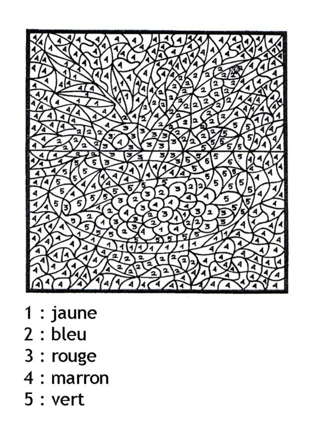 Magique a imprimer mystere chiffres - Coloriage magique