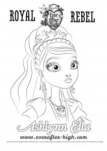 Coloriage Ashlynn Ella Ever After High Imprimer Free Coloring Pages