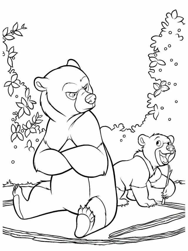 Coloriage de Frère des ours à imprimer pour enfants - Coloriage