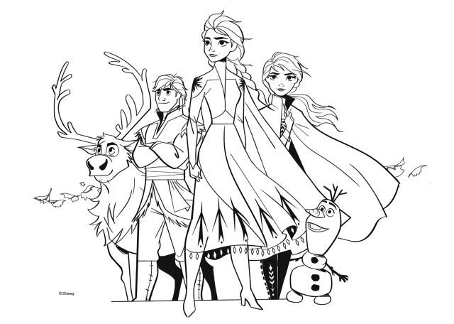 Tous les personnages de La reine des neiges 15 - Coloriage La Reine