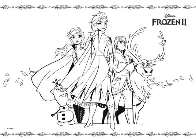 """Coloriage officiel Disney """"Frozen 15"""" - Coloriage La Reine des"""