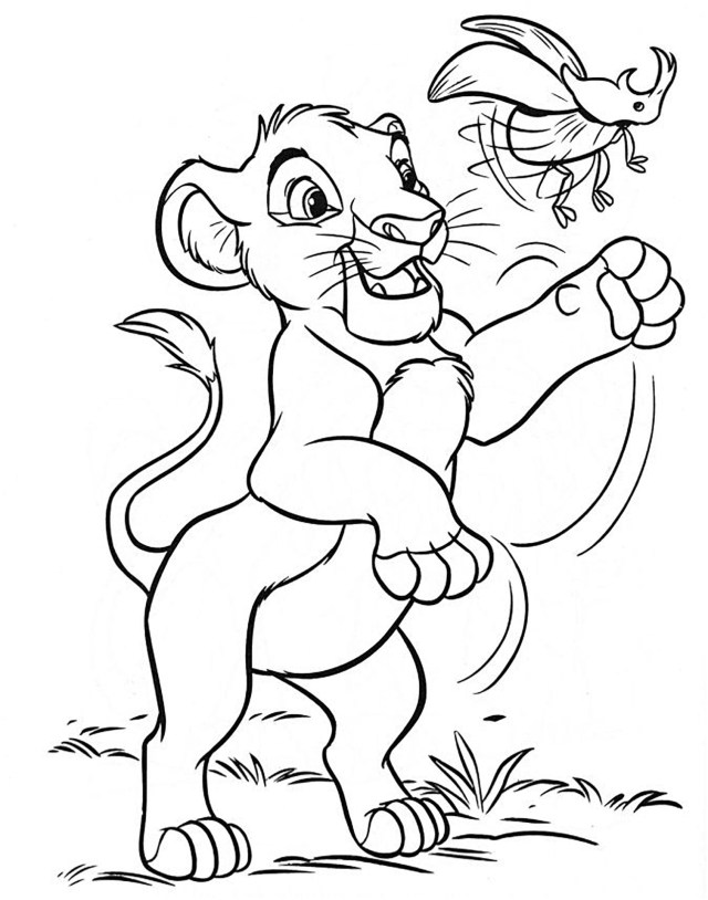 Coloriage Roi Lion Simba - Ronnie