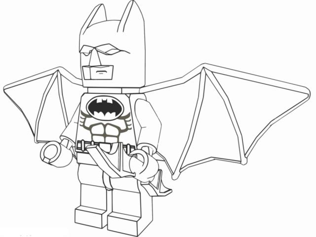 Coloriage de Lego Batman à imprimer - Coloriage Lego Batman