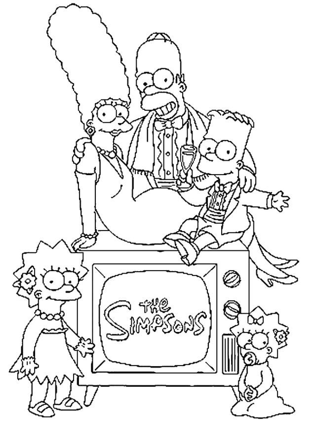 Coloriage de Les Simpsons pour enfants - Coloriage Simpsons