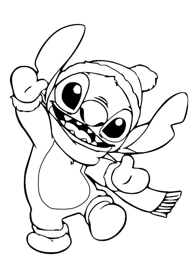 Coloriage Lilo et stich à colorier pour enfants - Coloriage Lilo