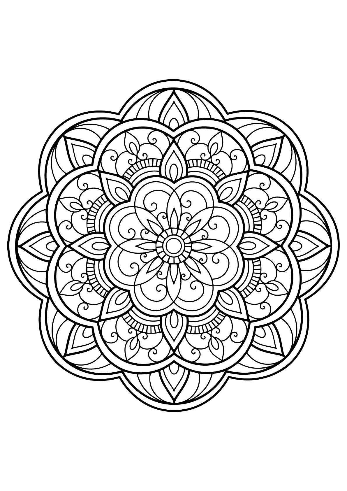 Mandala Complexe Livre Gratuit 14