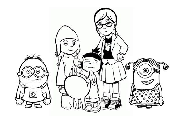 Coloriage de Minions à colorier pour enfants - Coloriage Minions