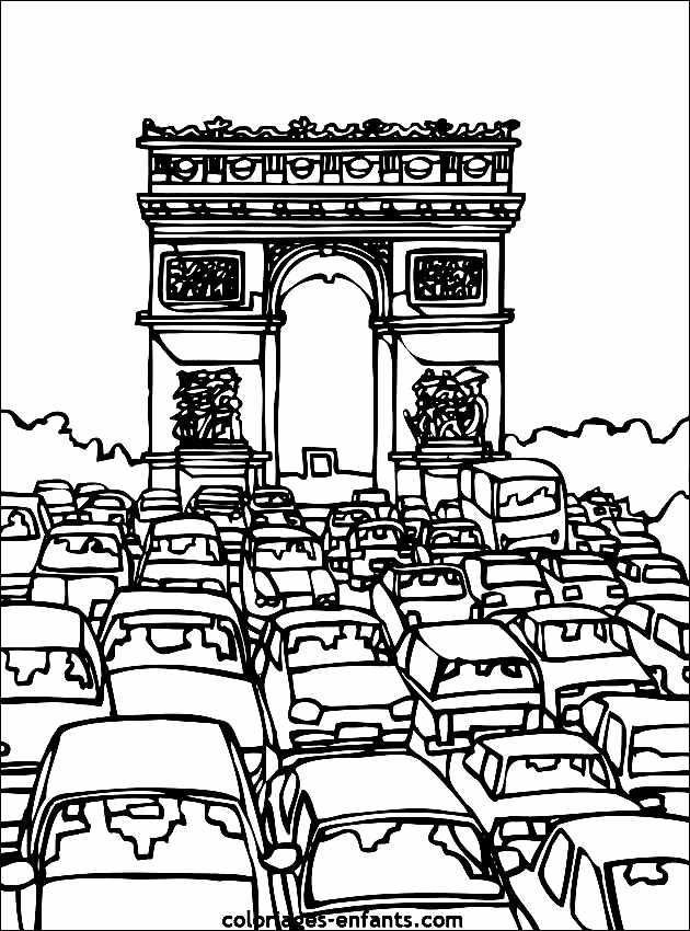 Monuments Arc Triomphe 2 Coloriage De Monuments