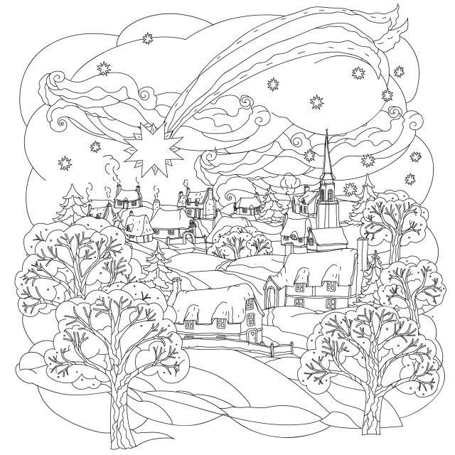 Coloriage de Noël à colorier pour enfants - Coloriages de Noël