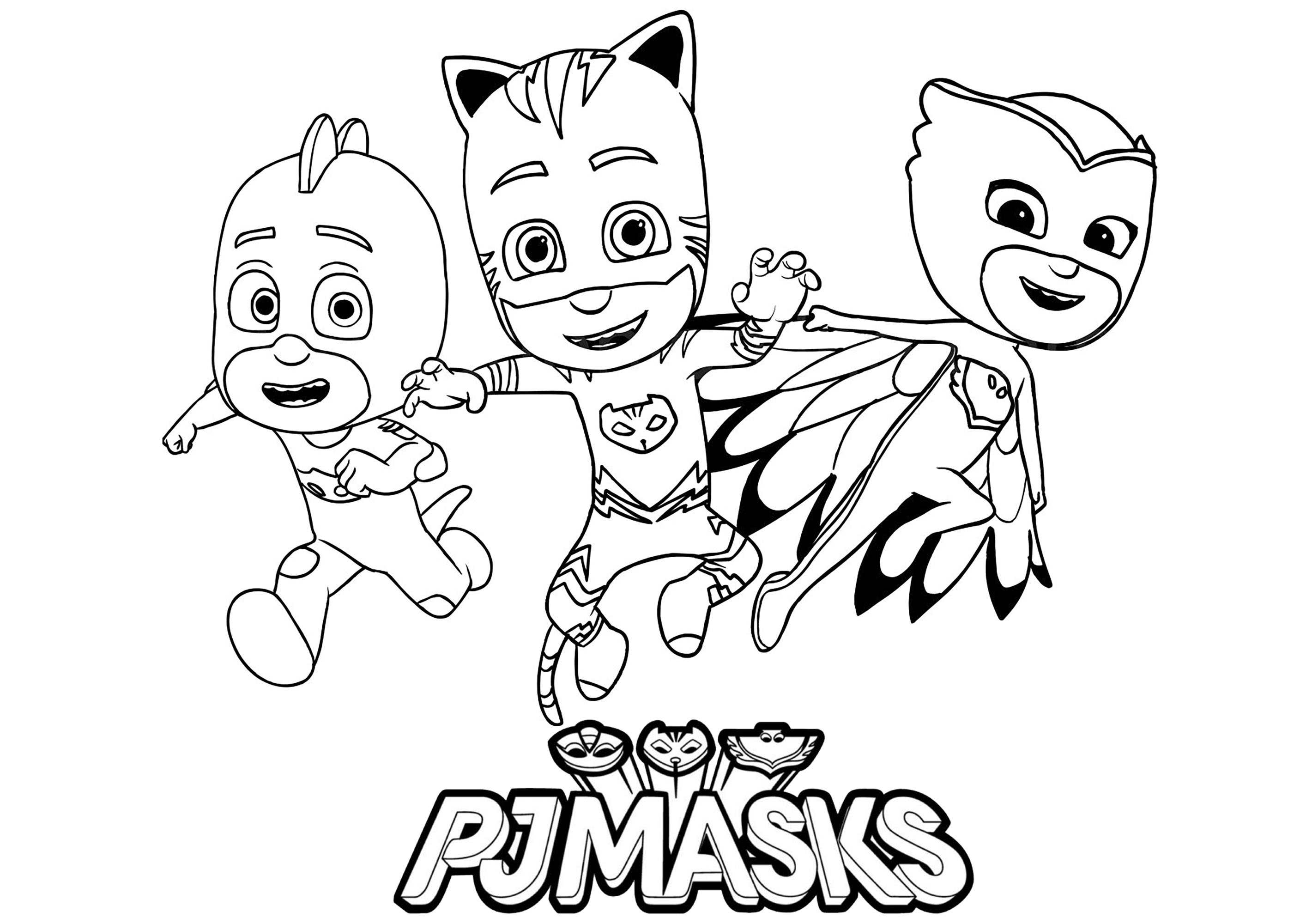 P J Mask Coloring Page Coloring Pages