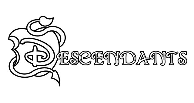 The descendants disney logo - Coloriage The Descendants
