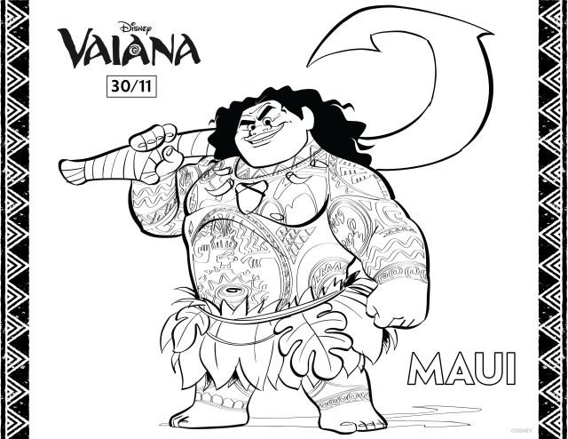 Dessin de Vaiana gratuit à télécharger et colorier - Coloriage
