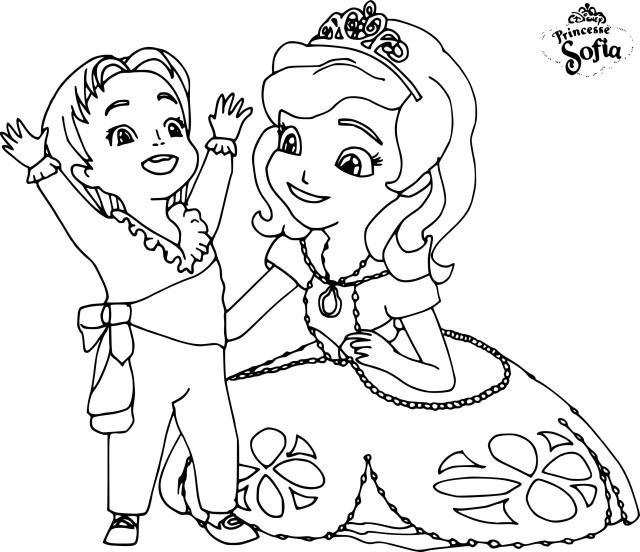Coloriage Princesse Sofia Dessin à imprimer sur Coloriage DE .com