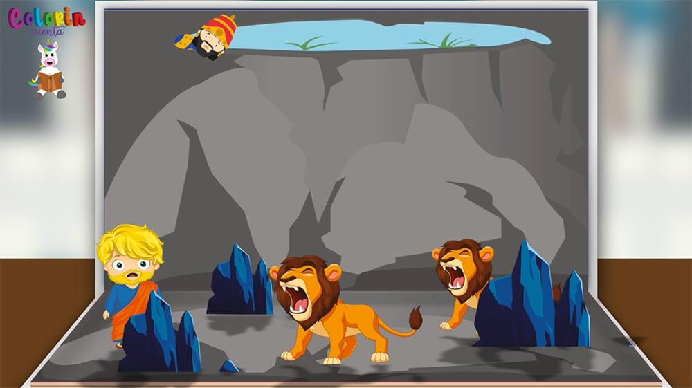 Cuento para niños de Daniel en el foso de los leones
