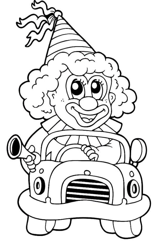 КЛОУН Раскраски для детей распечатать бесплатно в формате А4