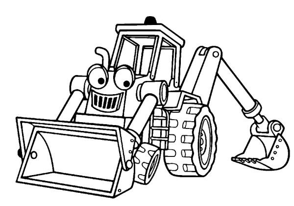 Раскраска трактор из мультика | Раскраски для детей ...