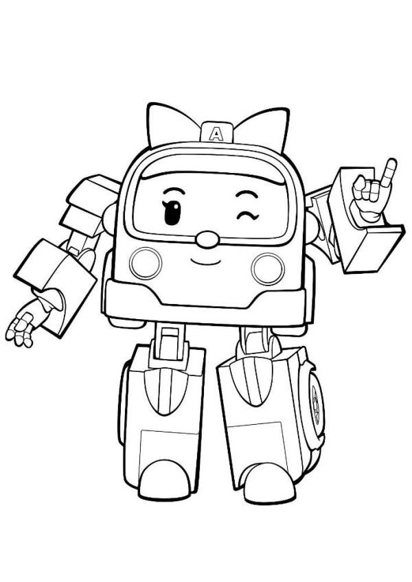 Раскраска девочка робот | Раскраски для детей распечатать ...