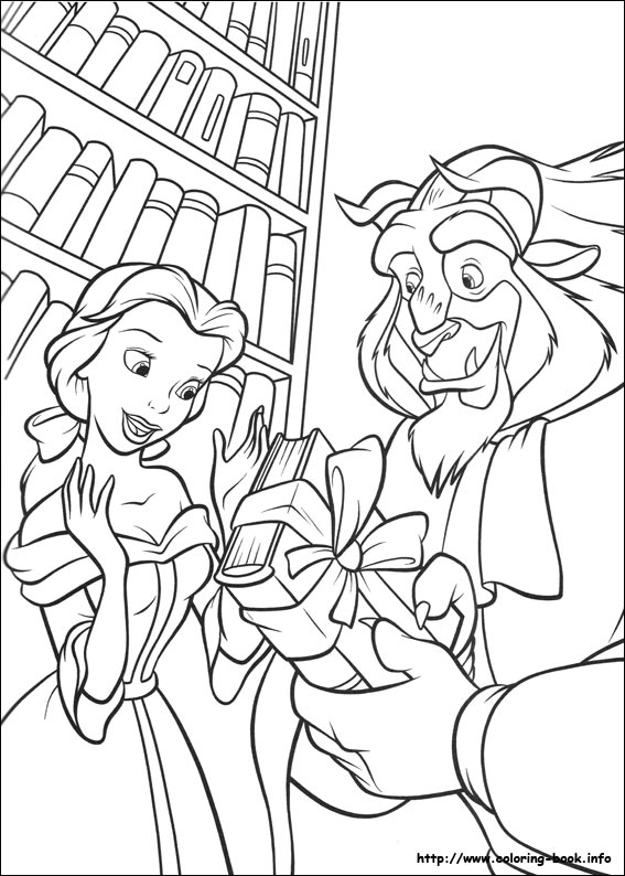 beauty and the beast coloring page # 14