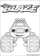 Robot Blaze Coloring Pages