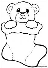 preschool christmas coloring pages # 71