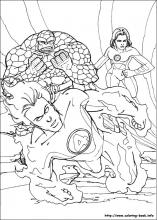 fantastic four coloring pages # 1