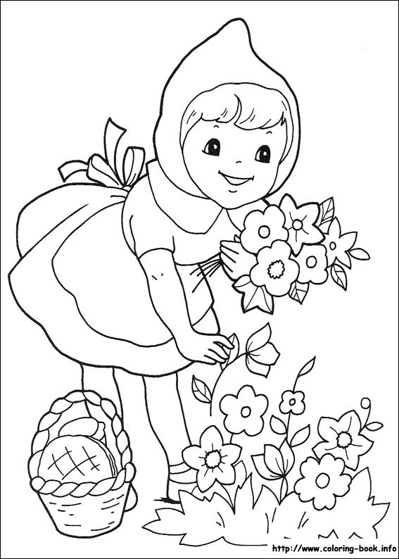 Little Red Riding Hood Coloring Picture