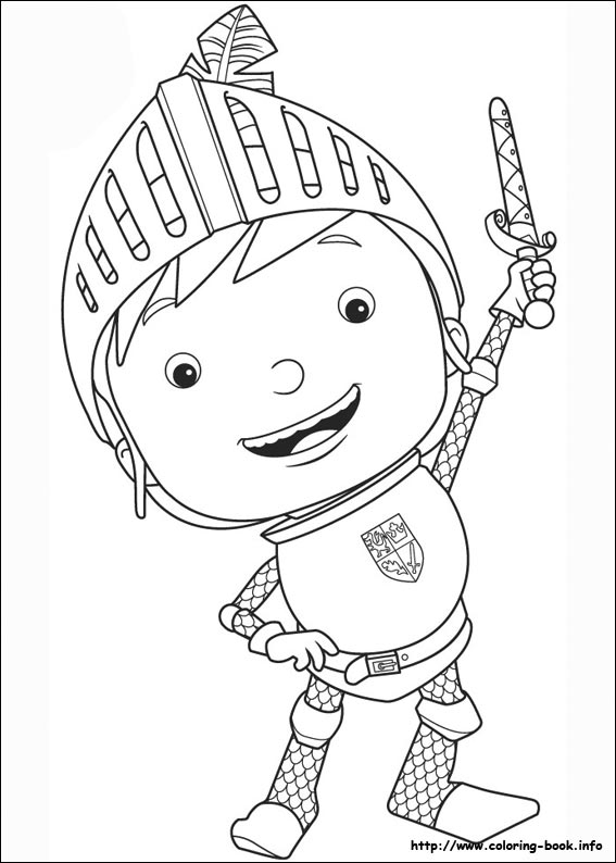 knight coloring page # 8