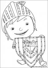 knight coloring page # 18
