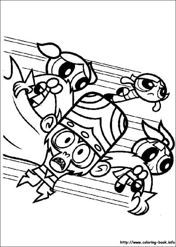 power puff girls coloring pages # 12