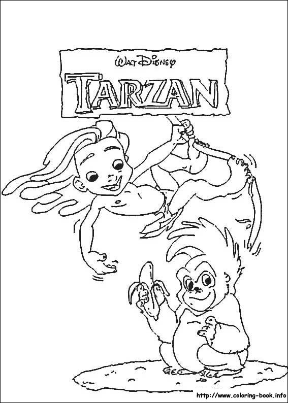 Free Disney Tarzan Printables Coloring Pages And