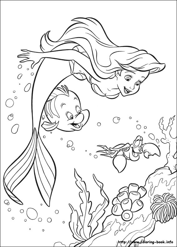 The Little Mermaid coloring picture