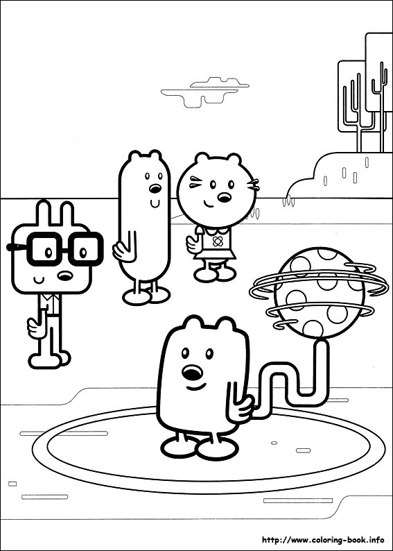 wow wow wubbzy coloring pages # 23