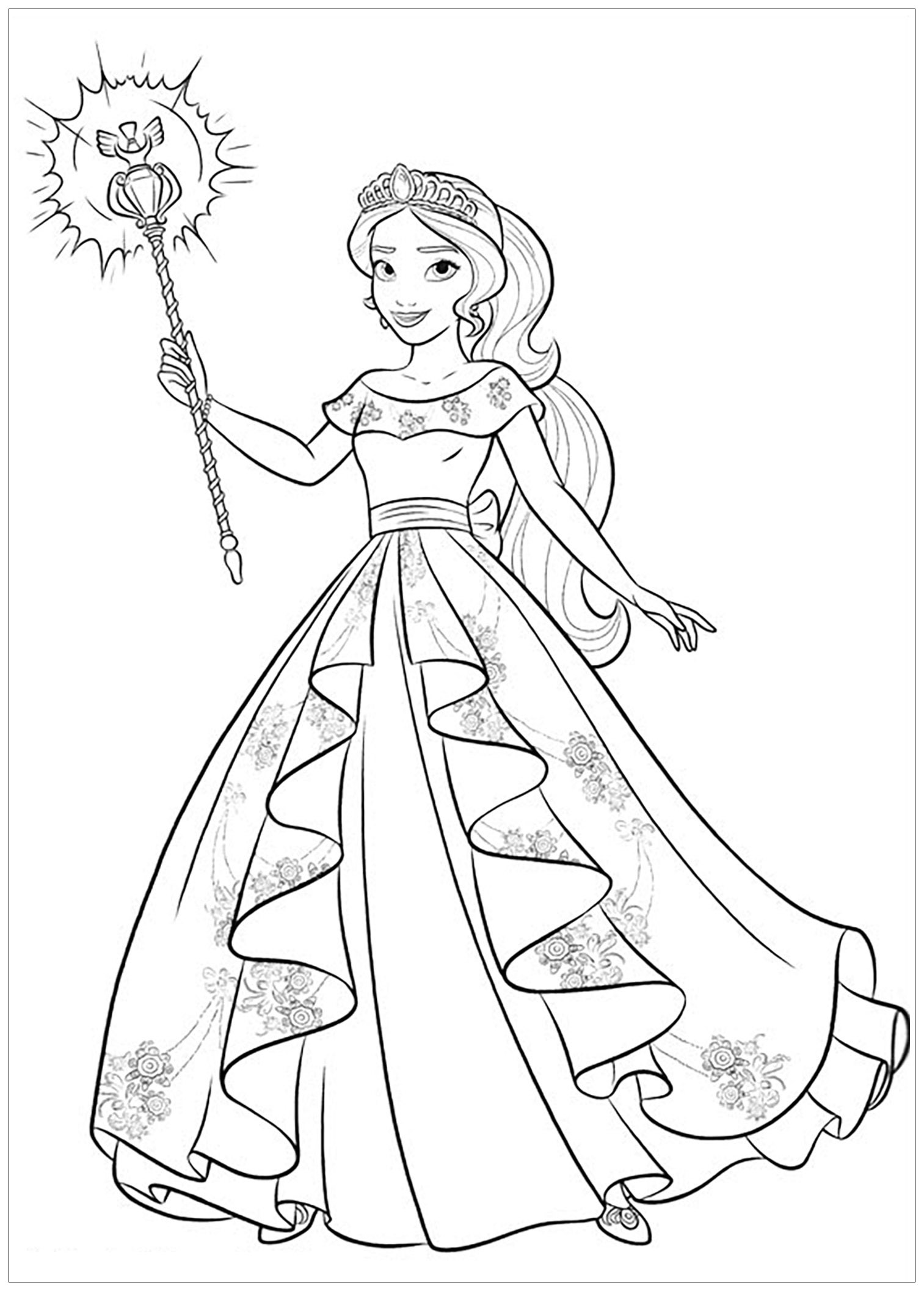 Elena Avalor 4279 Elena Avalor Coloring For Kids