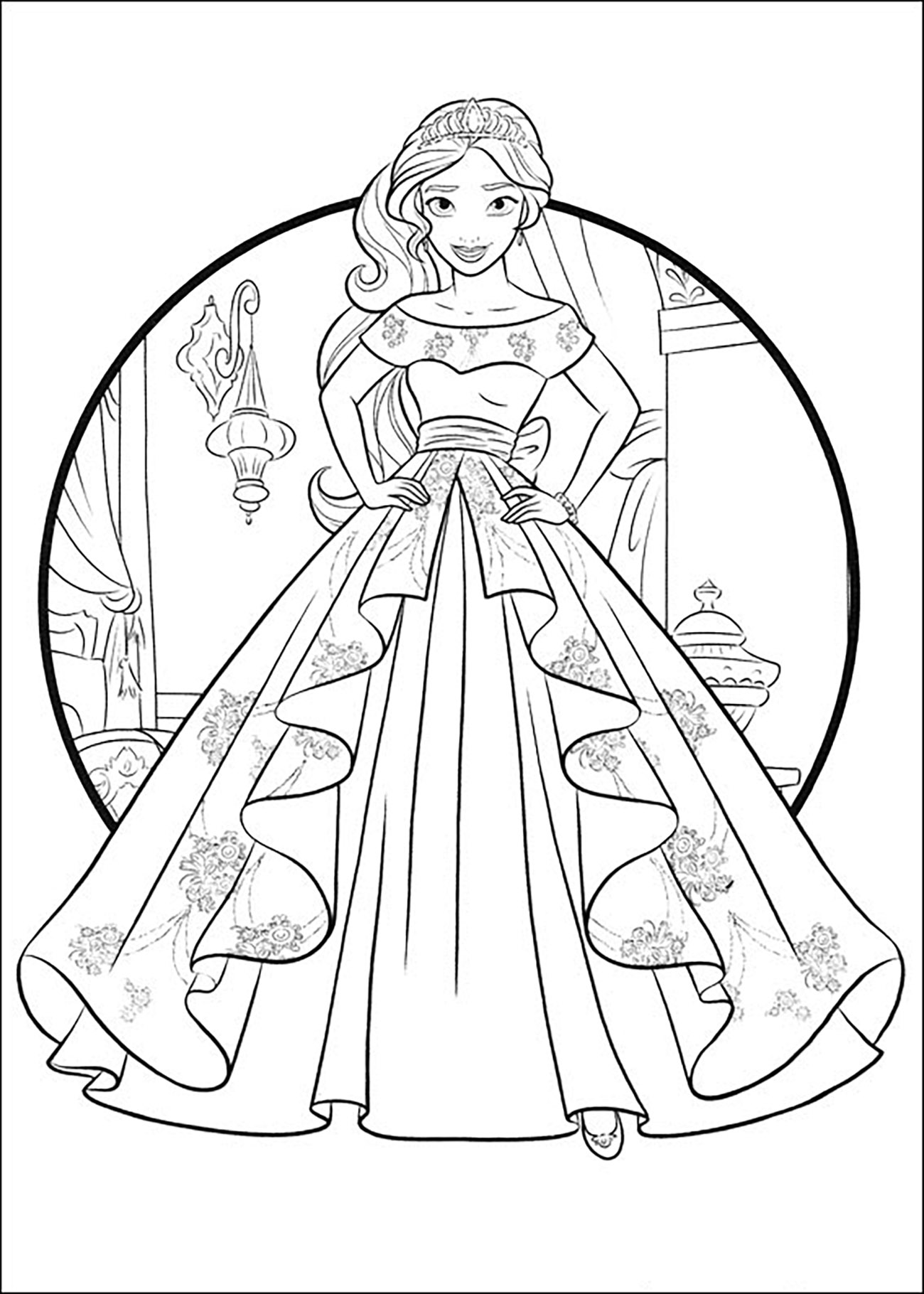 Elena Avalor 86072 Elena Avalor Coloring For Kids