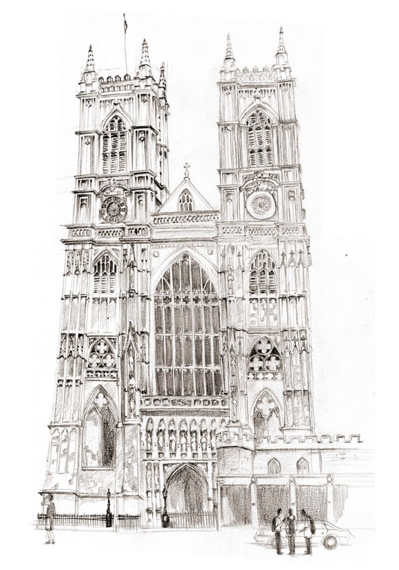 Coloriage Anti Stress Londres LAbbaye De Westminster 11