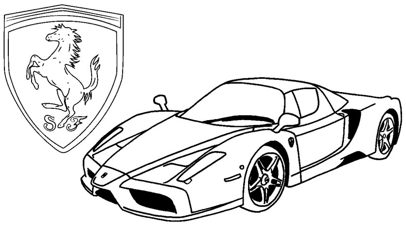 art therapy coloring page italy  ferrari 13